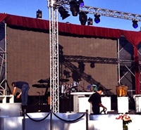 Video wall for FRESH party, soul and motown live music band from Majorca