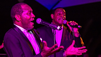 FRESH party, soul and motown live music band with 2 male soul singer for I'm a Soul Man Show in Majorca