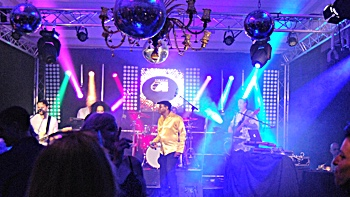 FRESH party, soul and motown live music band for a studio 54 party on Majorca
